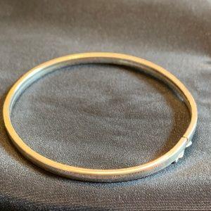 Sterling Silver Bangle Bracelet with Safety Clasp
